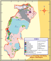 Geological Map of Chhattisgarh image