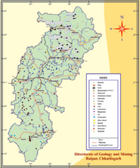 Mineral Map of Chhattisgarh image